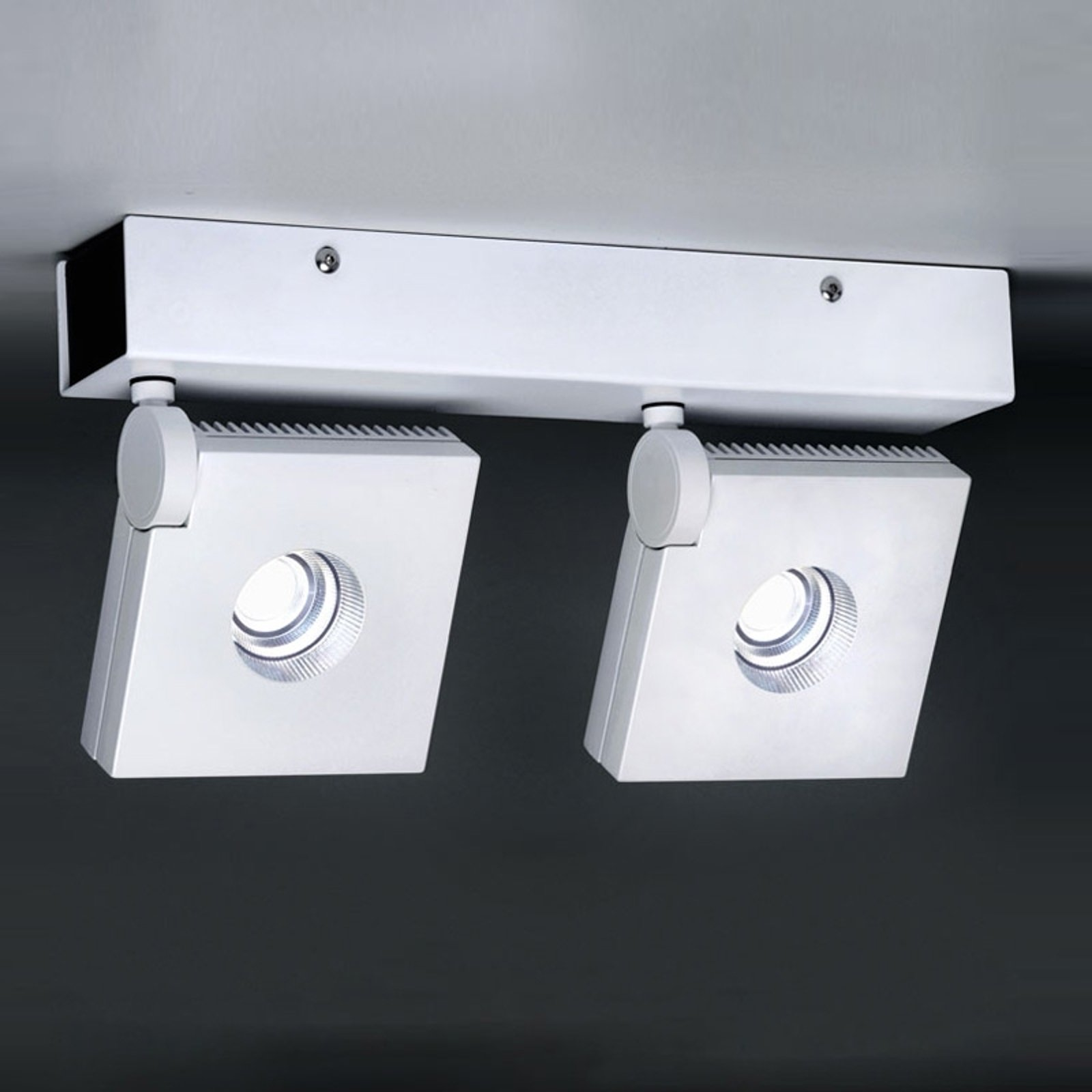 Drei- og svingbar LED-vegglampe Bridge 2 lys