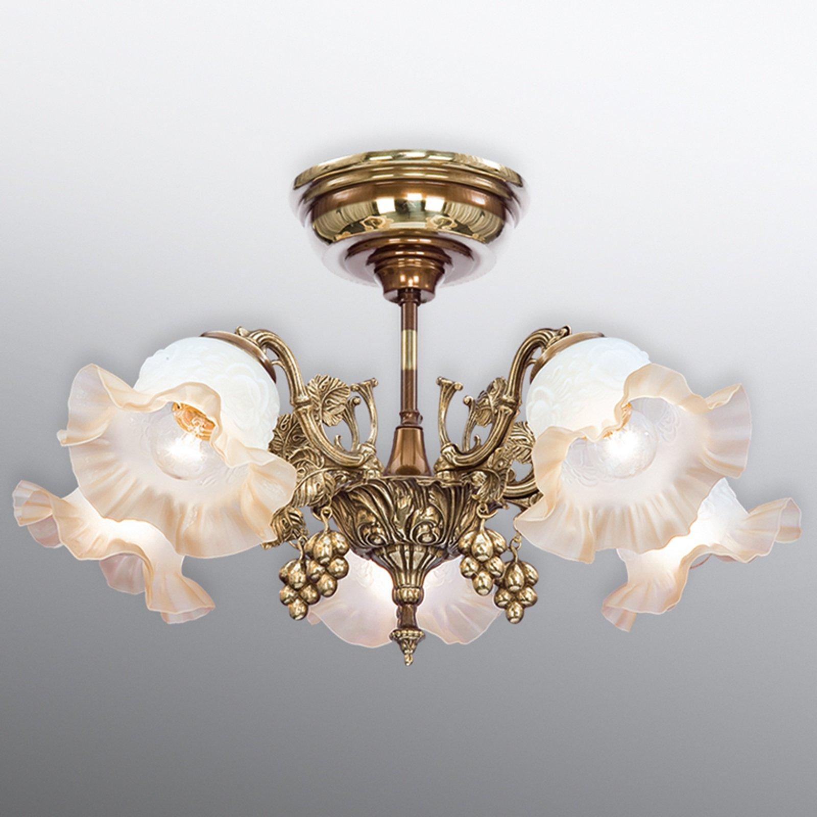 Rikelig dekorert taklampe Albero 5 lyskilder