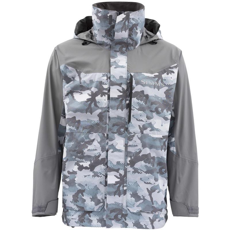 Simms Challenger Jacket M Hex Flo Camo Grey Blue
