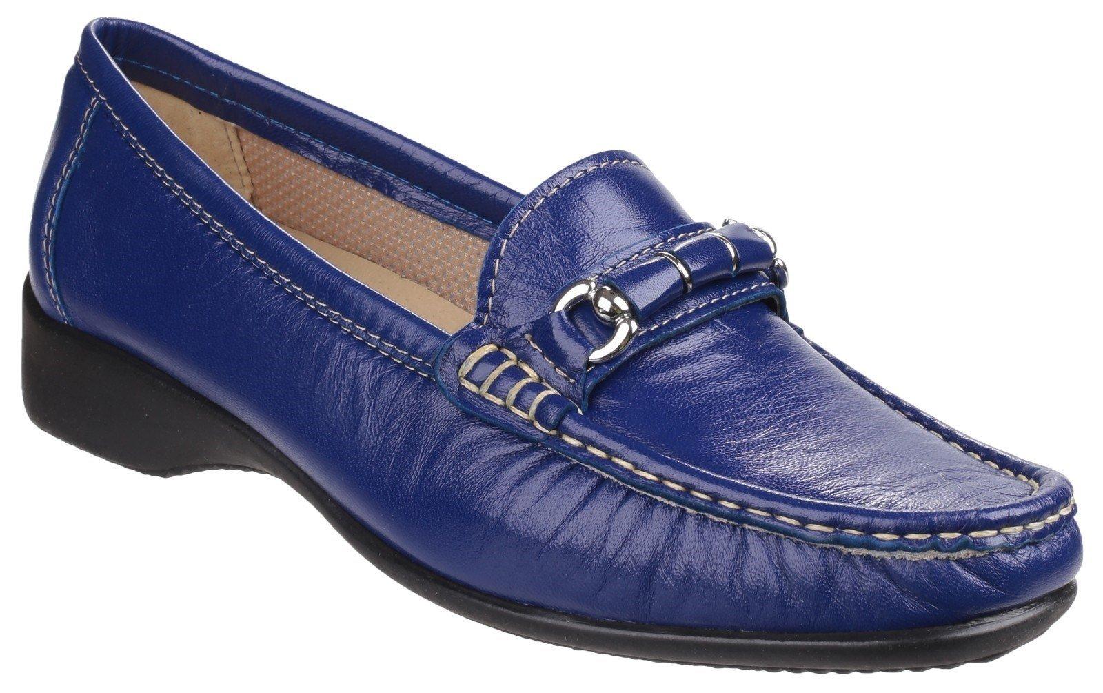 Cotswold Women's Barrington Slip on Loafer Various Colours 21430 - Navy 3