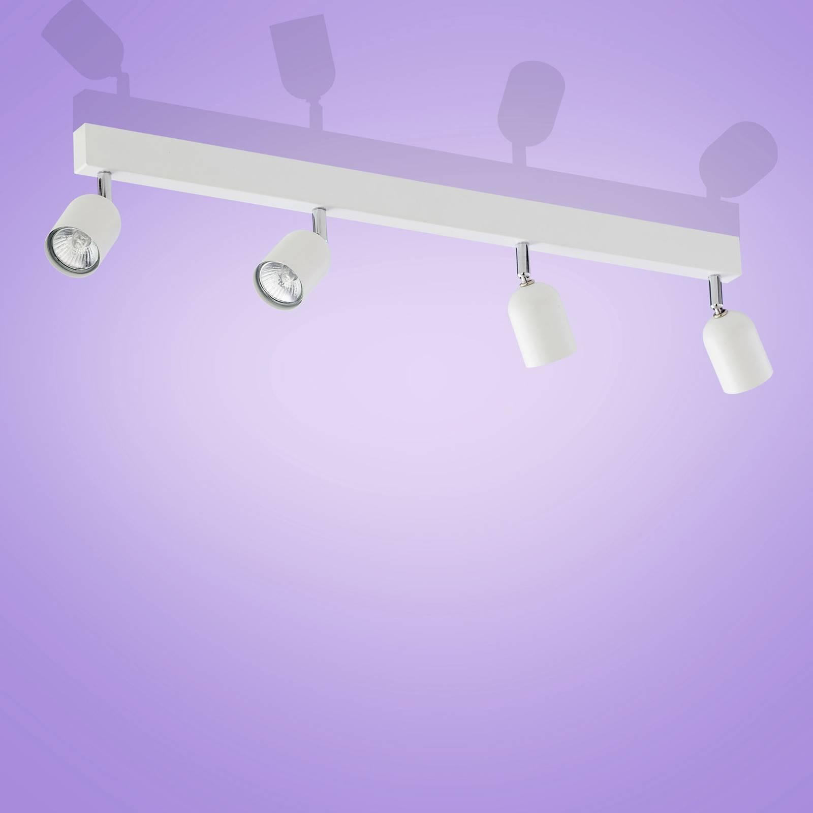 Kattokohdevalo Top, 4-lamppuinen, valkoinen