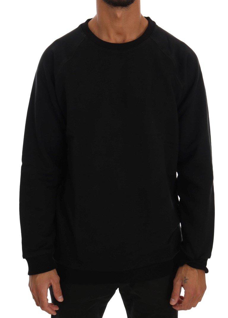 Daniele Alessandrini Men's Crewneck Cotton Sweater Black TSH1351 - L