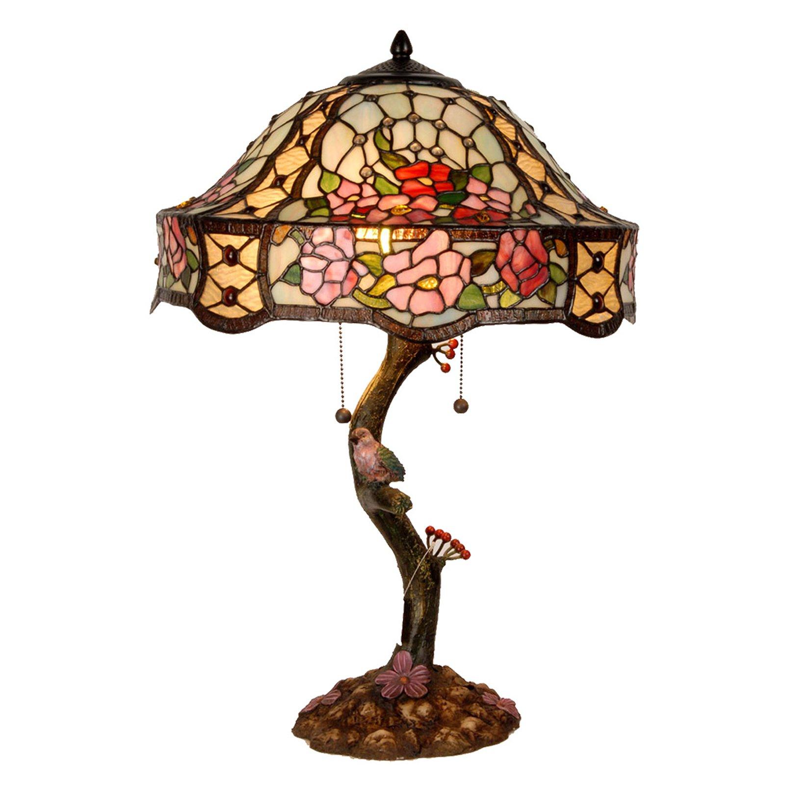 Rikt dekorert bordlampe Claire