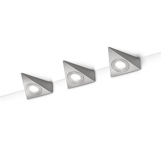 LED-kaapinalusvalaisin Ecco 3 kpl, mattanikkeli