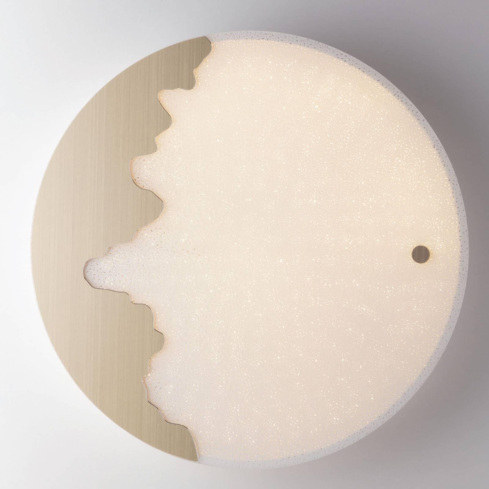 LED-seinävaloChic Tuya pyöreä kulta/kuvioitu Ø60cm