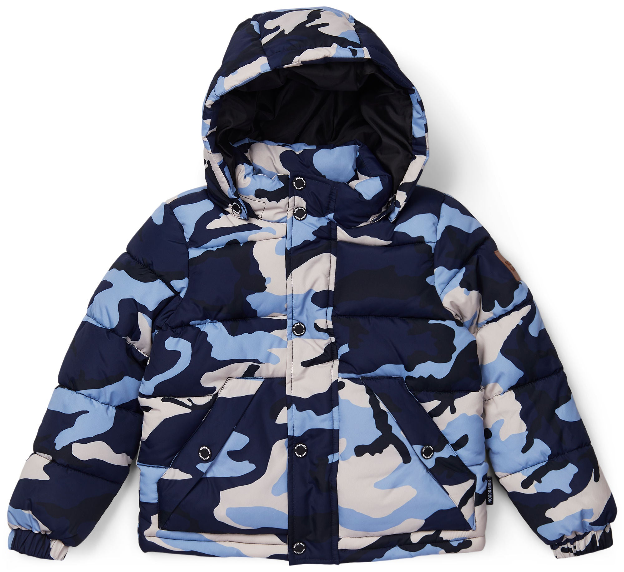 Nordbjörn Kalix Puffer Jacka, Blue Camo 110