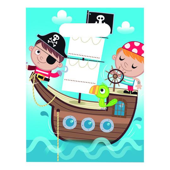 Kalaspåsar Piratbarn - 6-pack