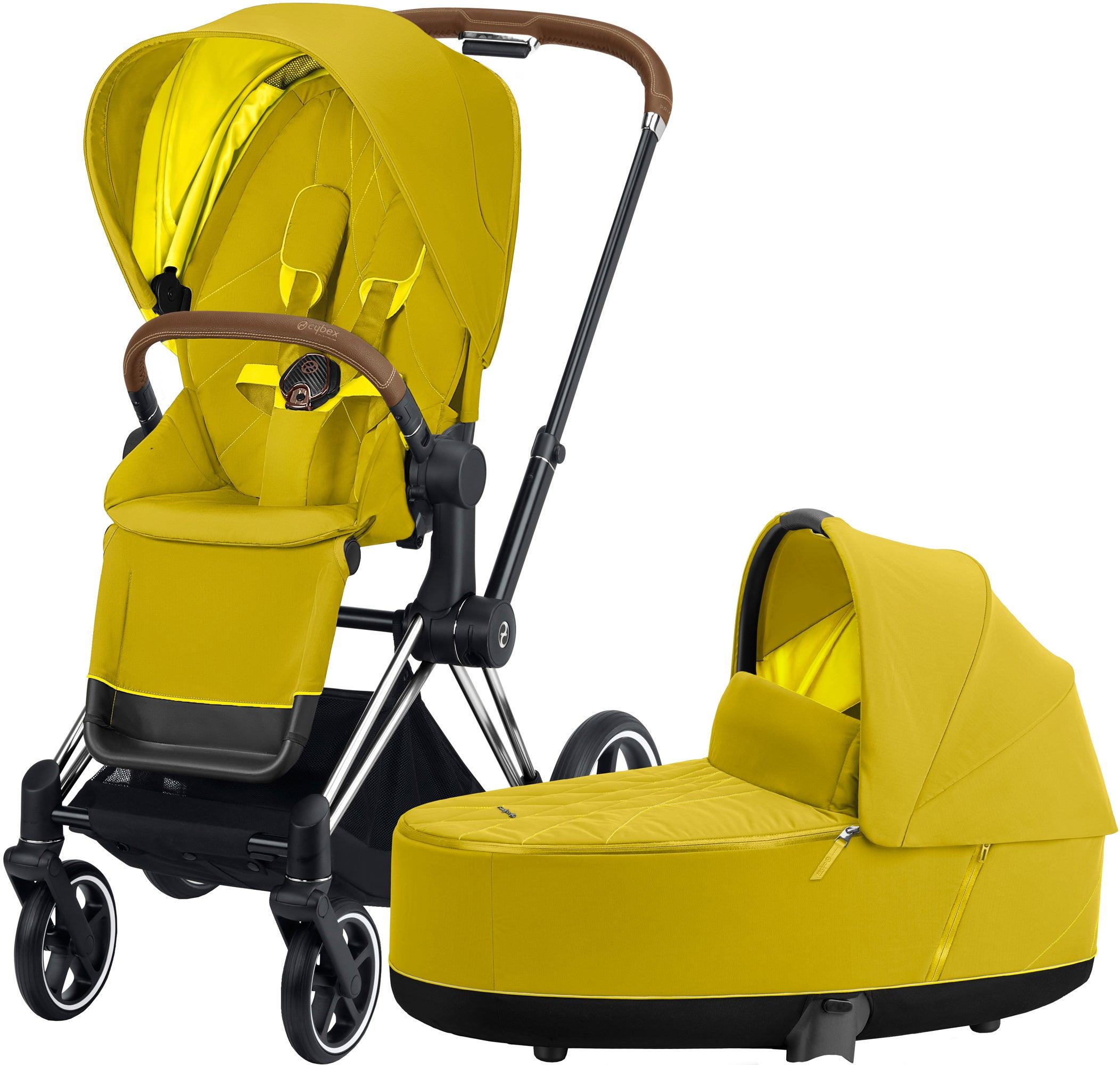 Cybex Priam Duovagn, Mustard Yellow/Chrome Brown
