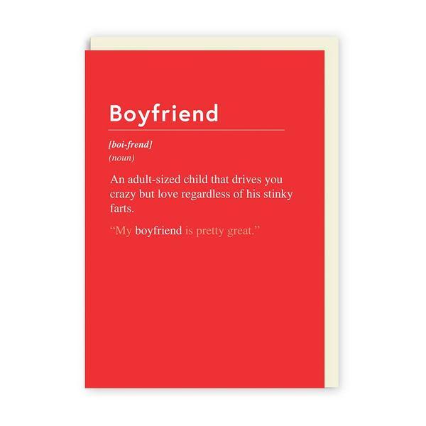 Boyfriend an Adult Sized Child Greeting Card
