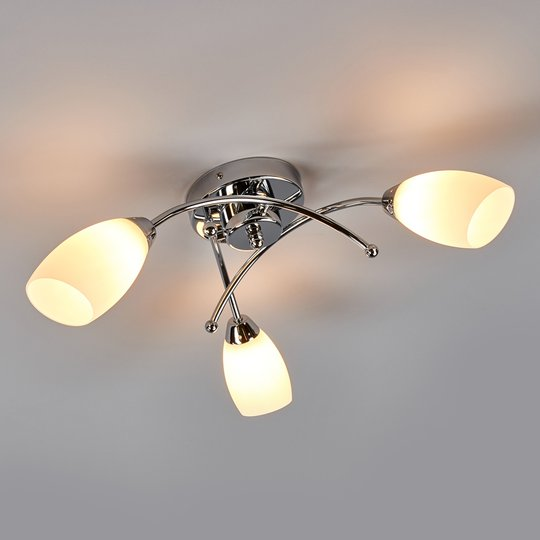 Ihana krominen, 3-lamppuinen OPERA-kattovalaisin