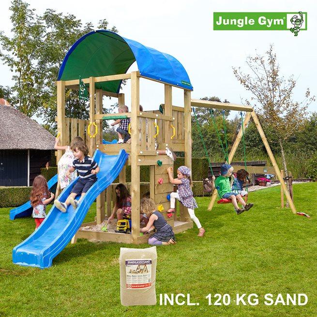 Jungle Gym Farm lektorn komplett inkl. Swing 120 kg, Klätterställning
