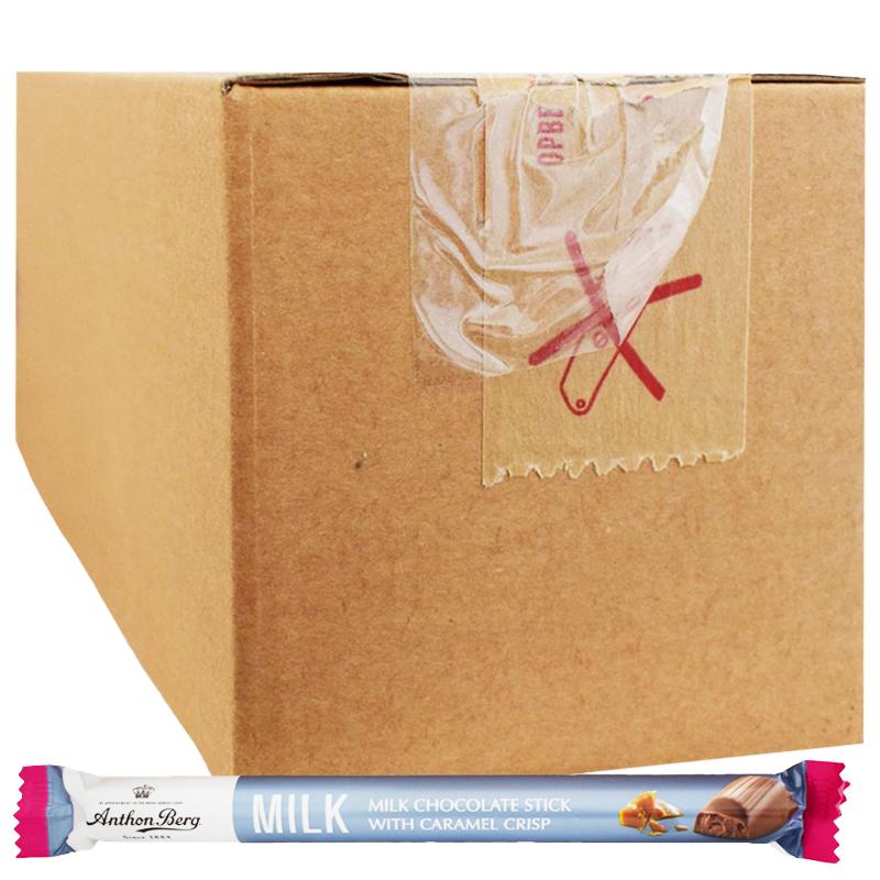 "Hel Låda Godis ""Chocolate Stick Caramel Crisp"" 24 x 37g - 50% rabatt"