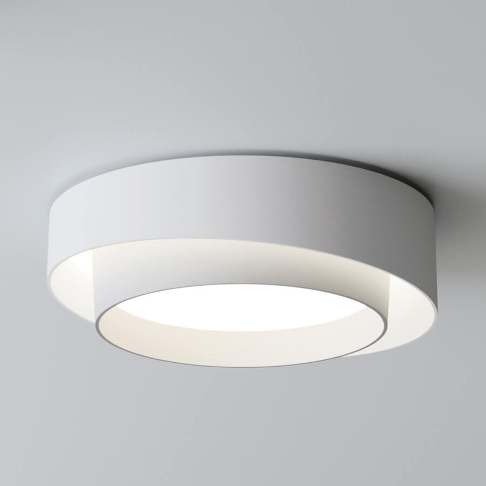 Centric hvit LED designertaklampe