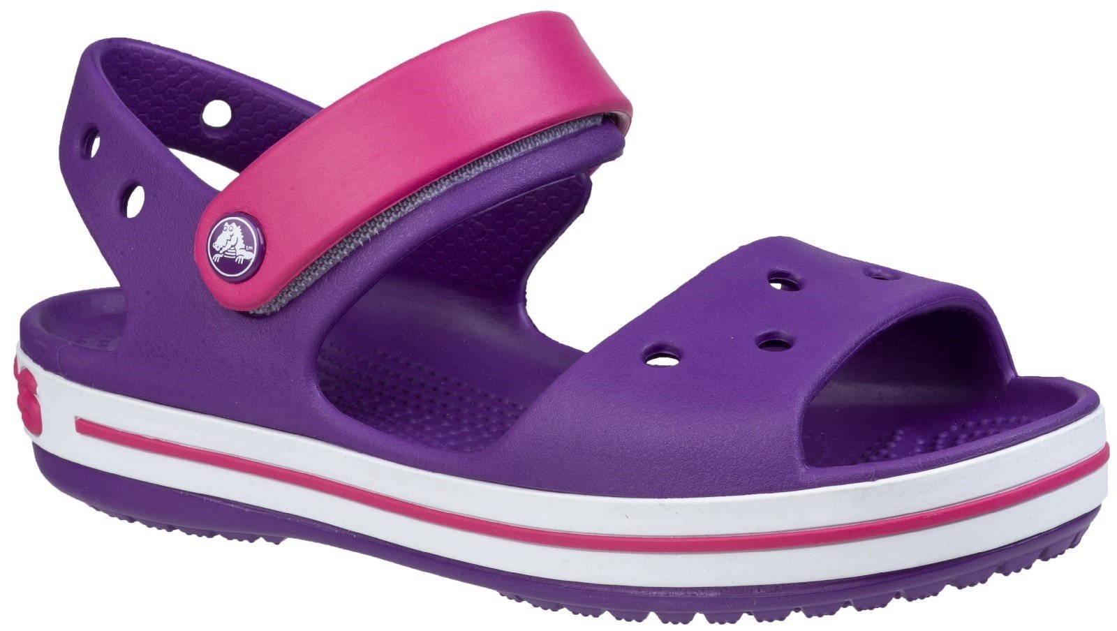 Crocs Kid's Sandal Various Colours 21077 - Purple/Pink/White 5