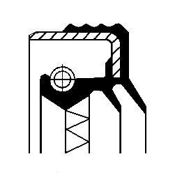 Oljepackningsring, manuell transmission, Bakaxel, Framaxel, Tvåsidig, Höger, Utgång, Vänster