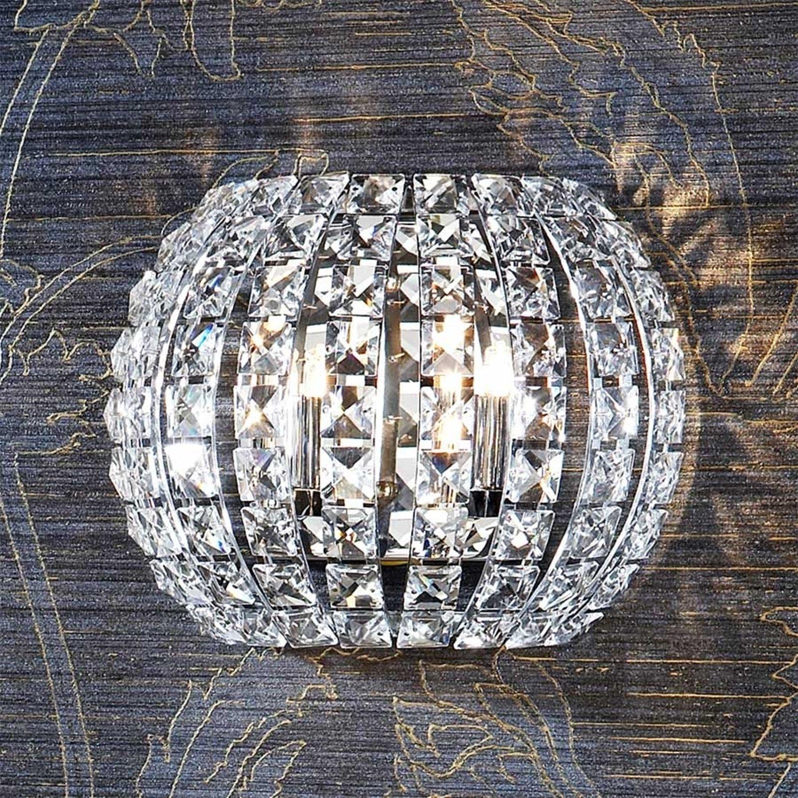 Vegglampe DIAMOND LED med krystaller