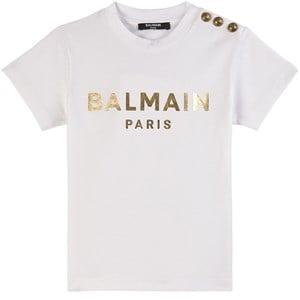 Balmain Logo T-shirt Vit 4 år
