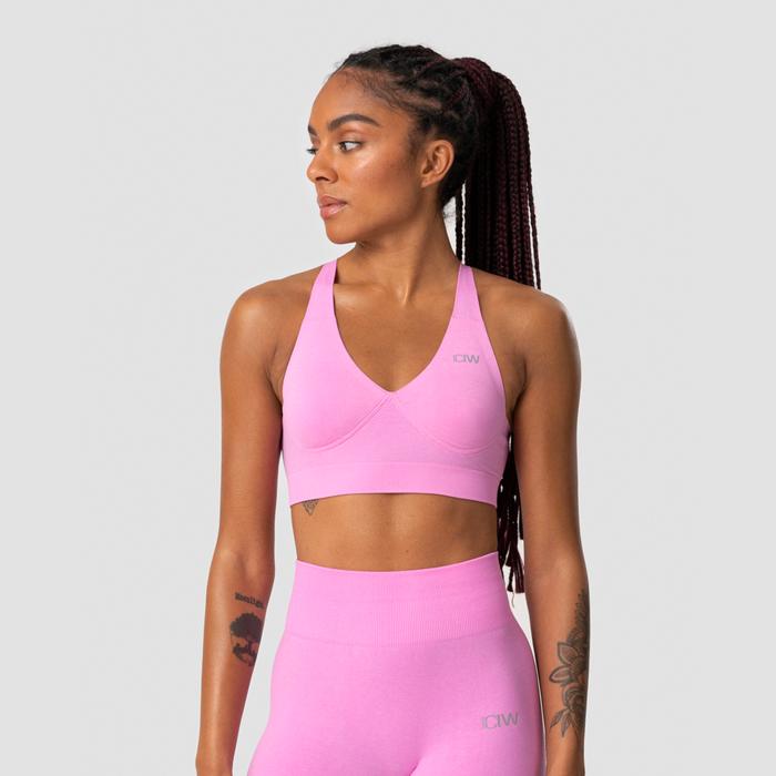 Define Adjustable Sports Bra, Pink Melange