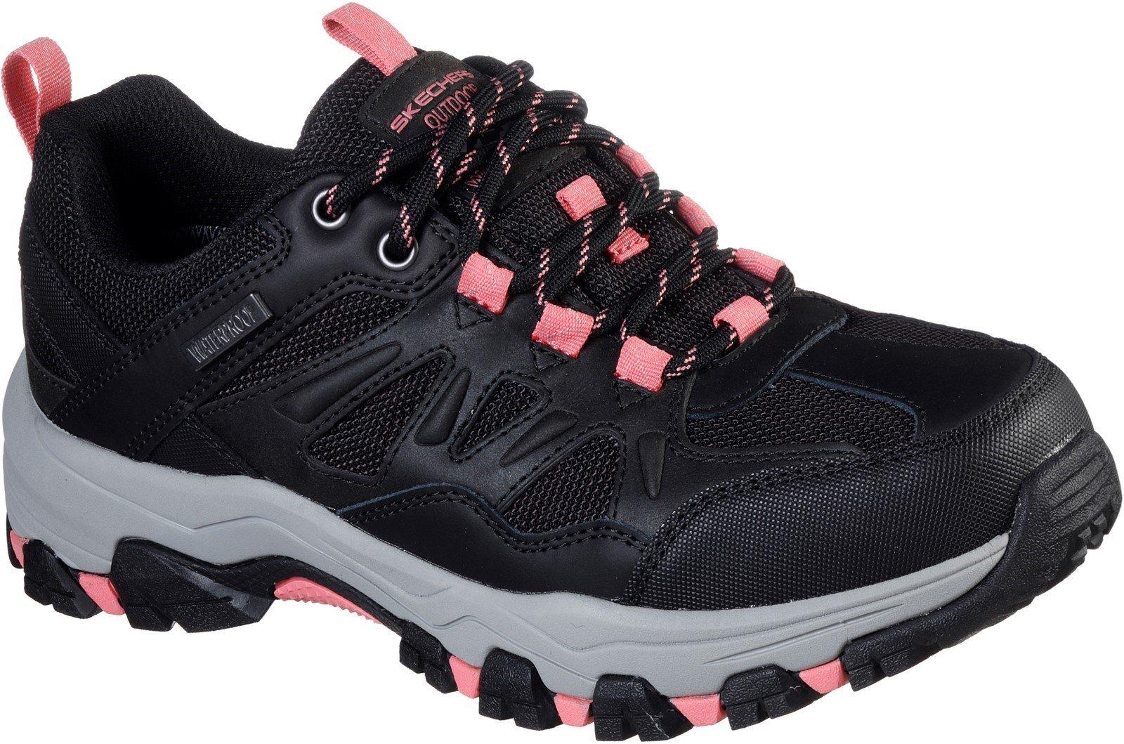 Skechers Women's Selmen West Highland Hiking Trainer Various Colours 32128 - Black/Charcoal 3