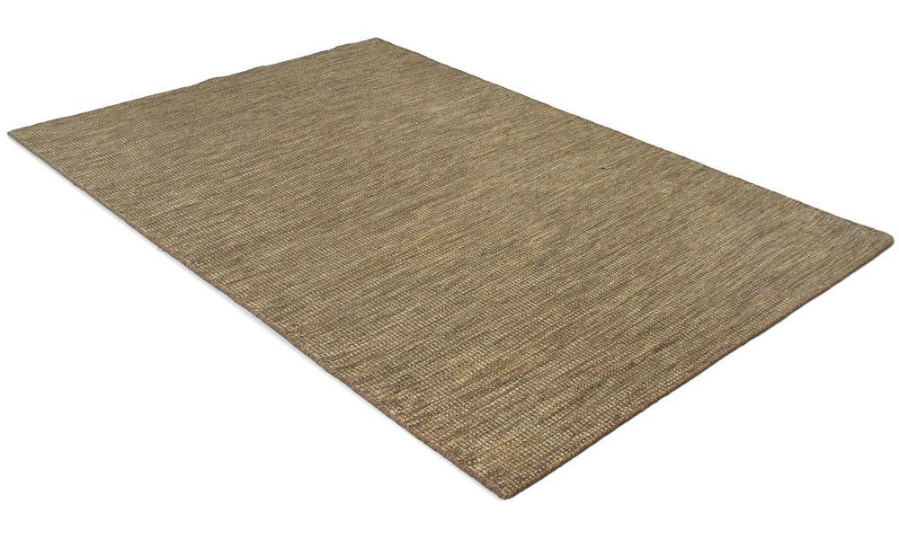 Afro mørk sand - håndvevd ullteppe