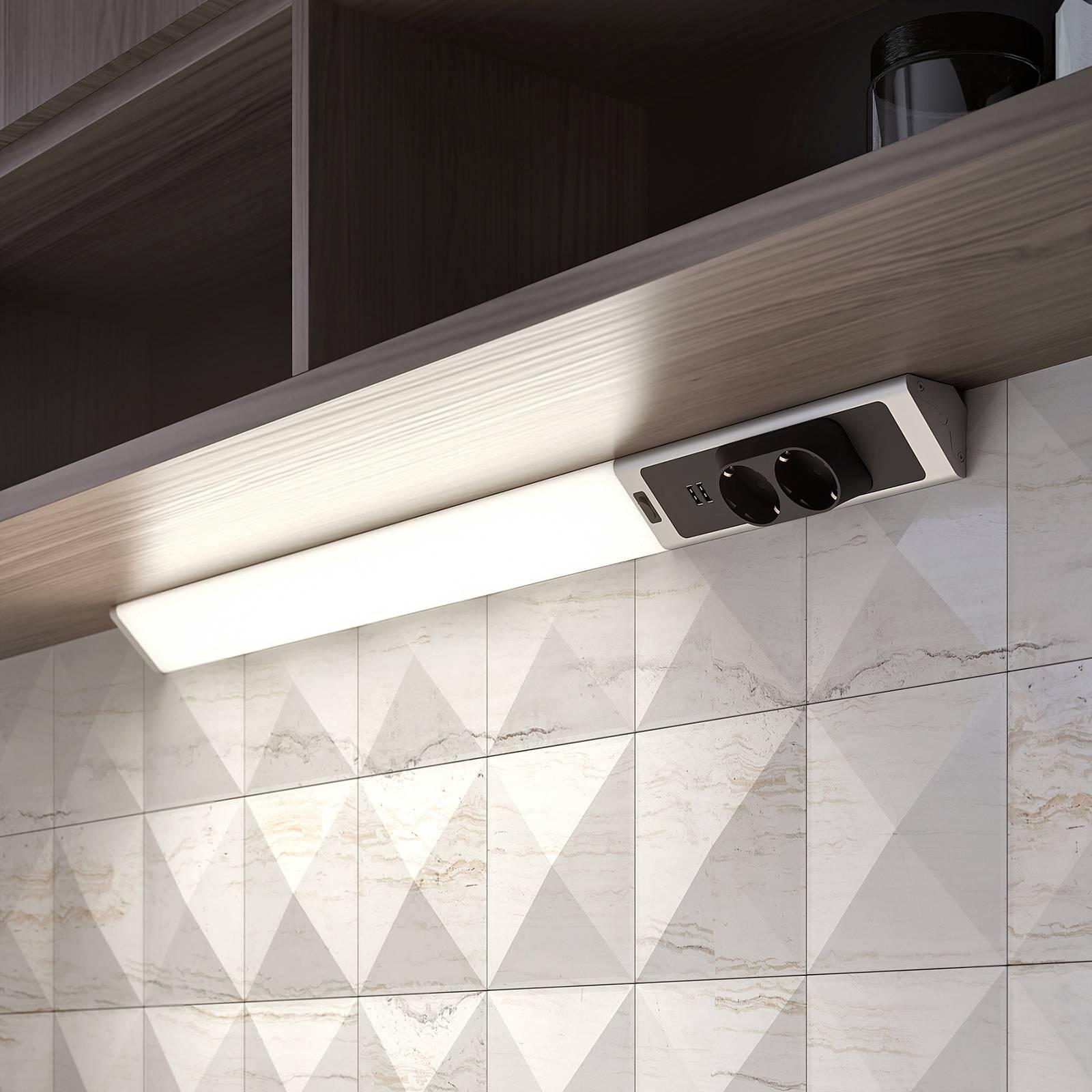 Lindby Brida -LED-kaapinalusvalaisin pistorasialla