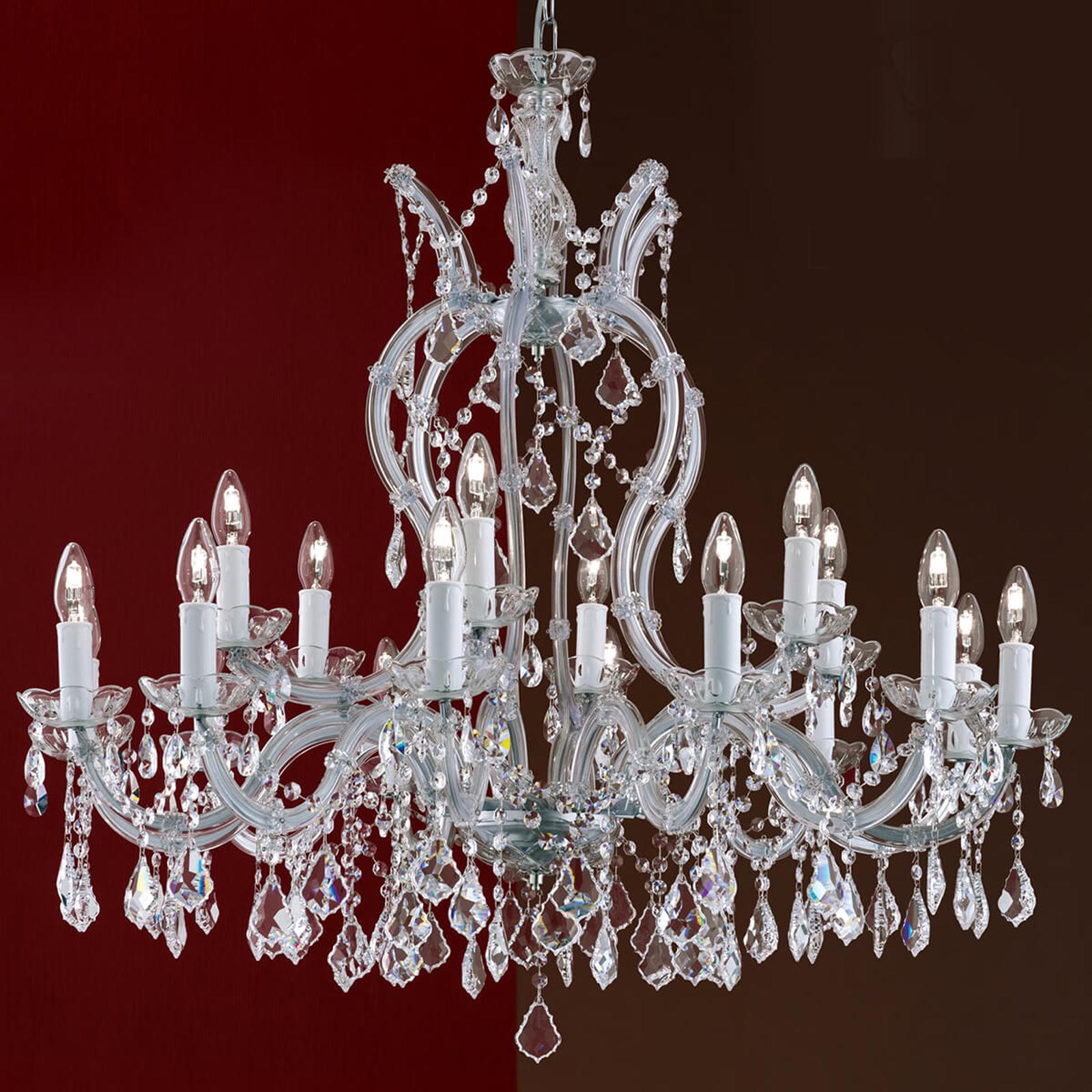 18-lamppuinen Maria Theresia -kristallikattokruunu