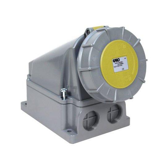 Garo UIV 463-4 S + RU Seinäpistorasia IP67, 5-napainen, 63A Keltainen, 4 h