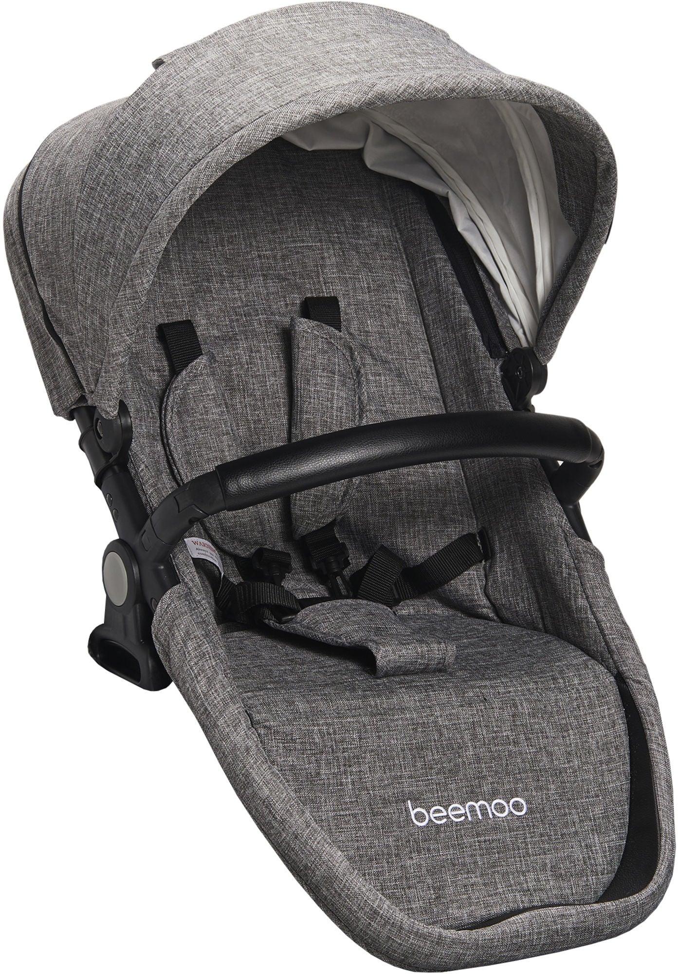 Beemoo Maxi Travel Lux II Sisarusistuin, Silver/Grey Melange