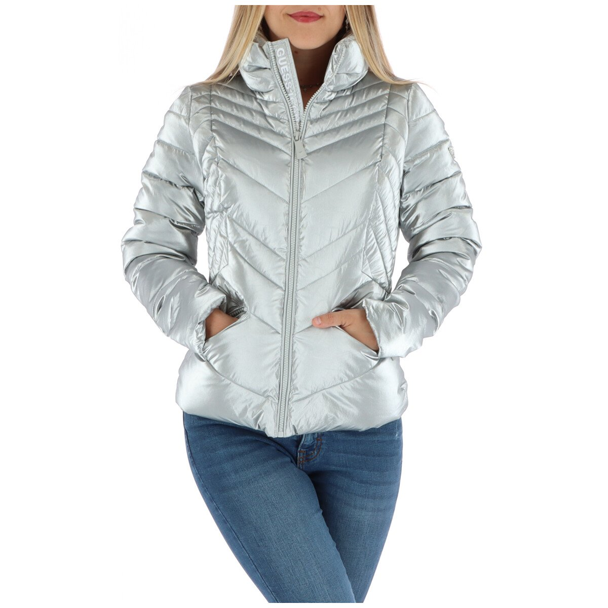 Guess Women's Jacket Various Colours 314311 - silver XS