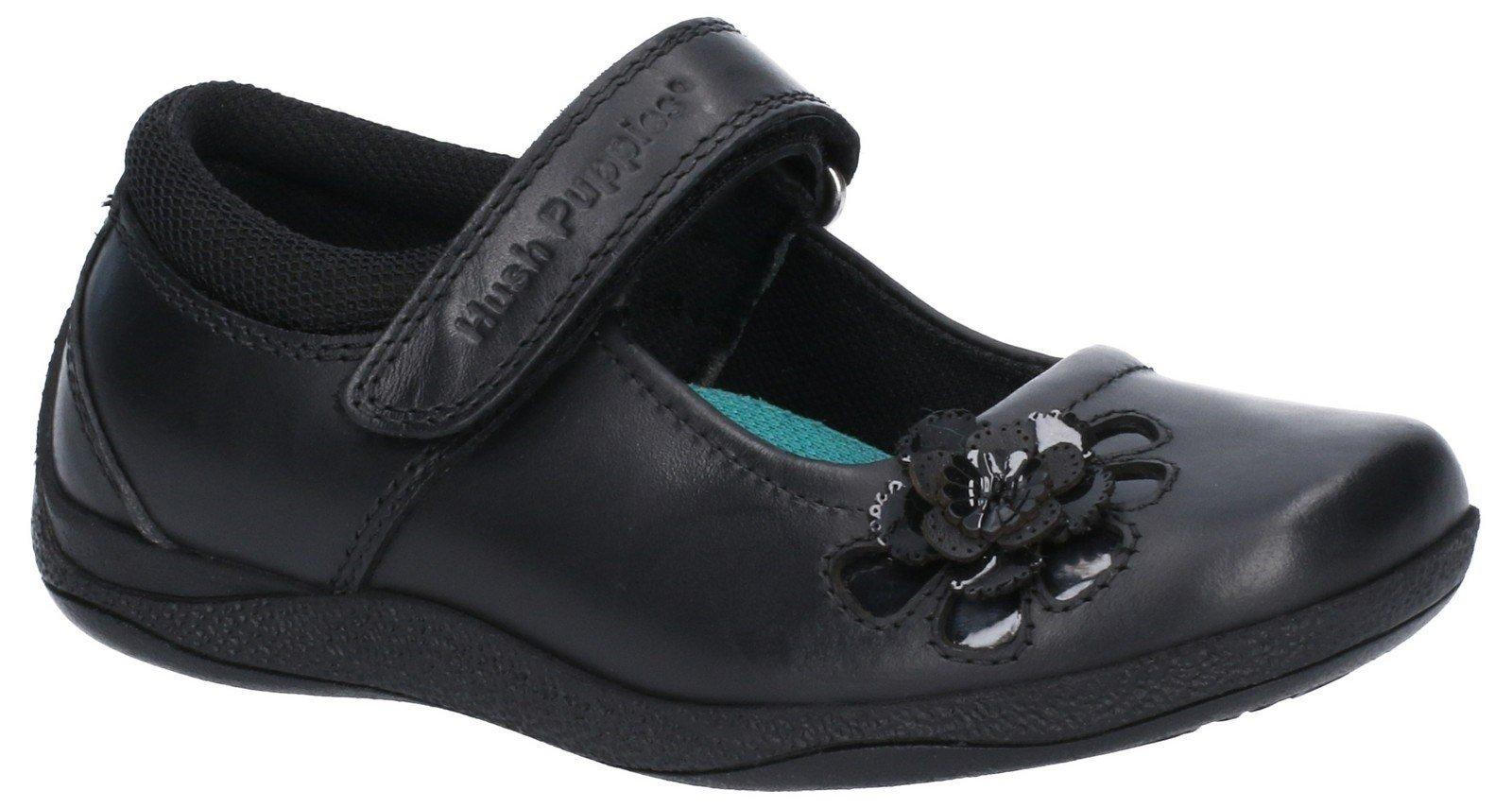 Hush Puppies Women's Jessica Jnr Touch School Shoe Various Colours 28981 - Black 10