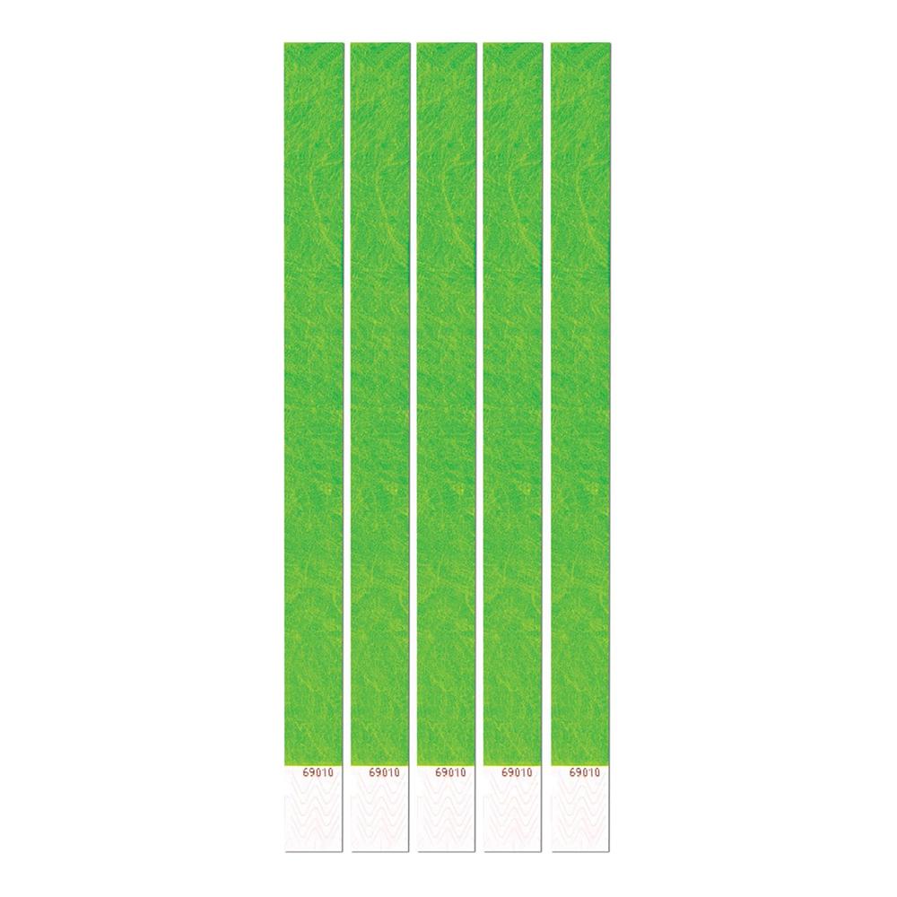 Entréarmband Neongrön - 100-pack