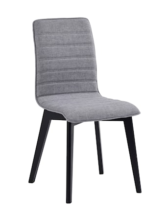Gracy stol tyg ljusgrå/svartbetsad ek