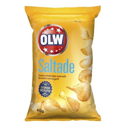 OLW Lättsaltade Chips 40g