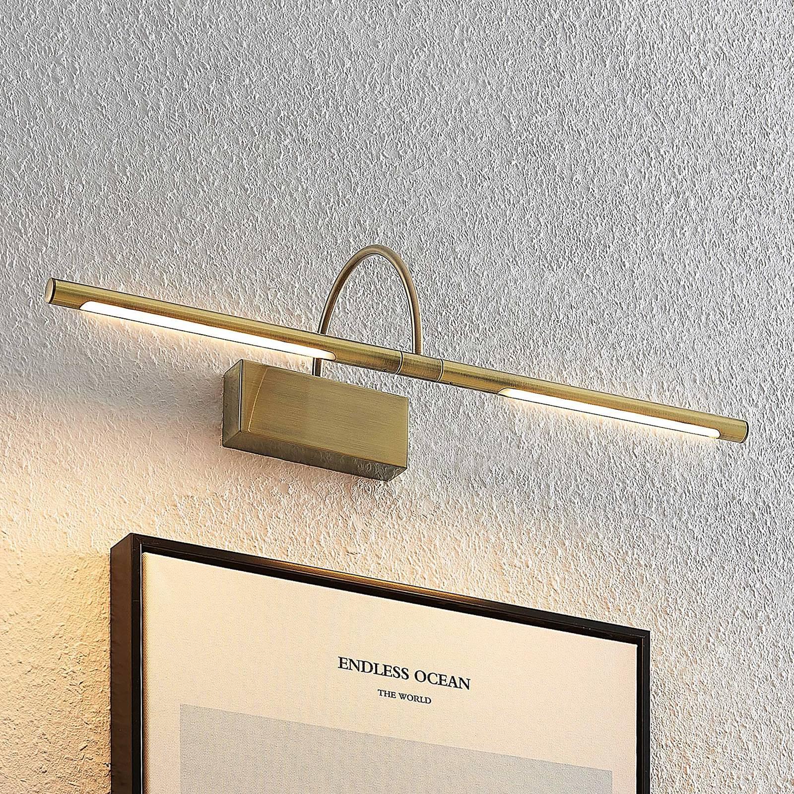 Lucande Fehmke -LED-tauluvalaisin antiikkimessinki