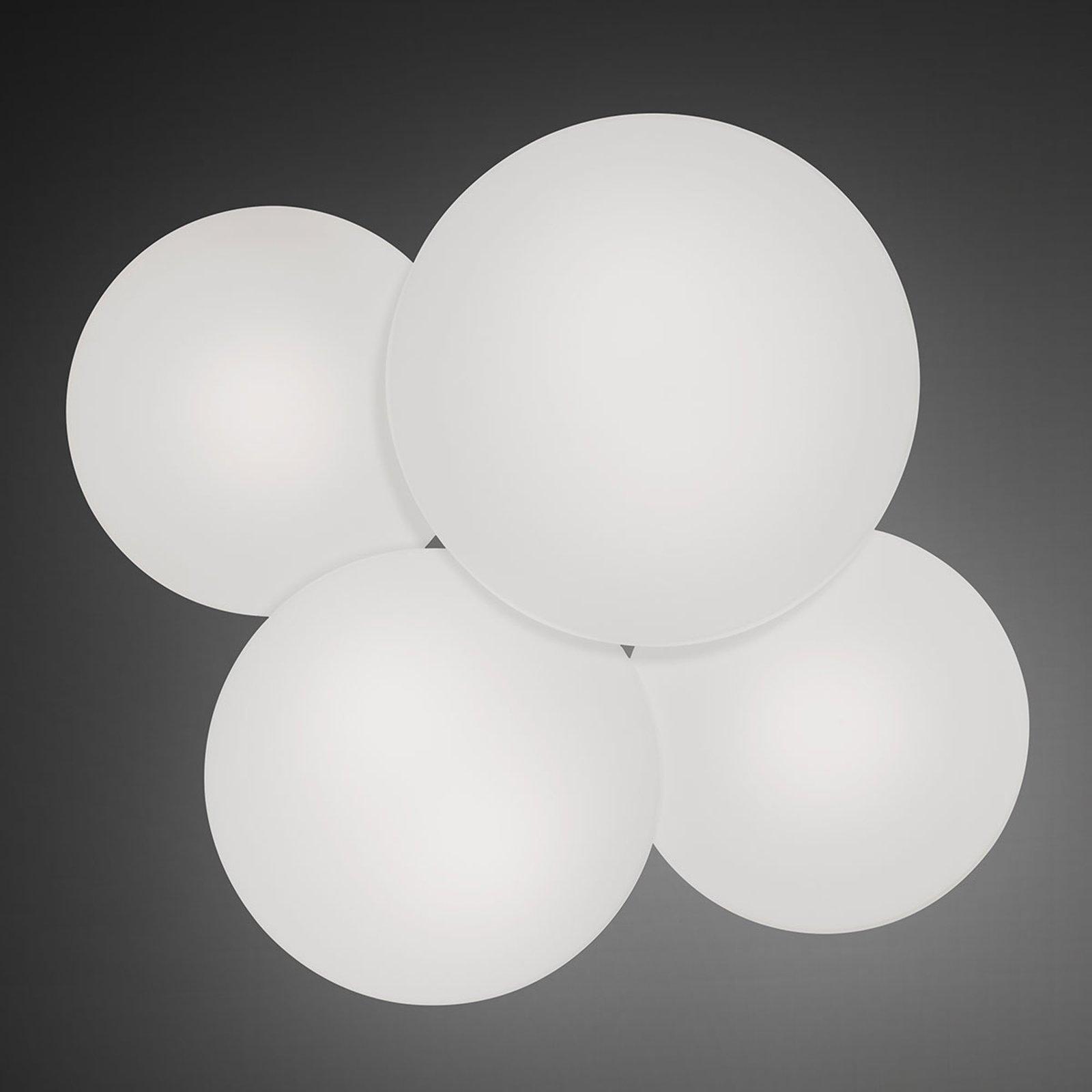 Puck taklampe med 4 lyskilder