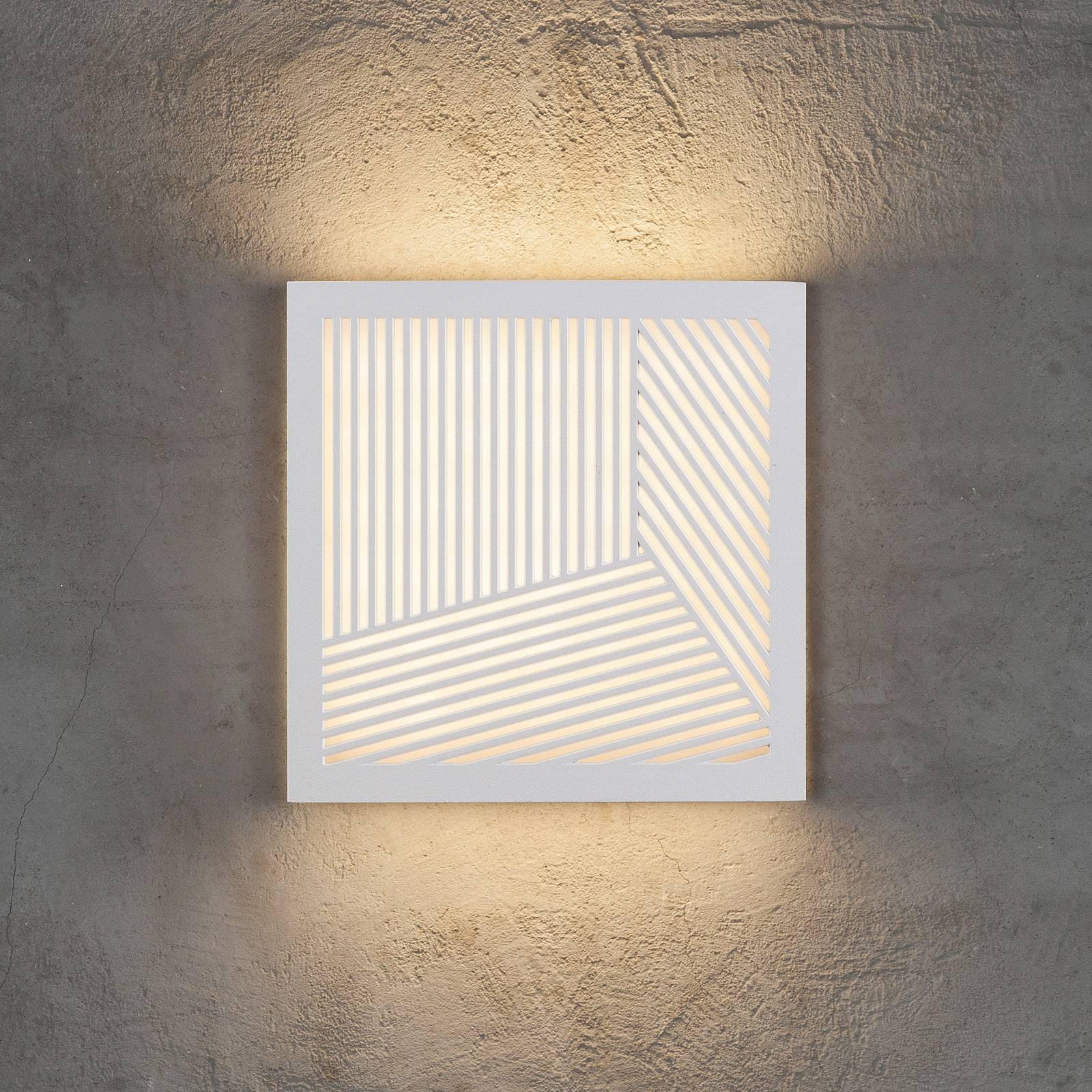 LED-ulkoseinävalaisin Maze Straight, valkoinen