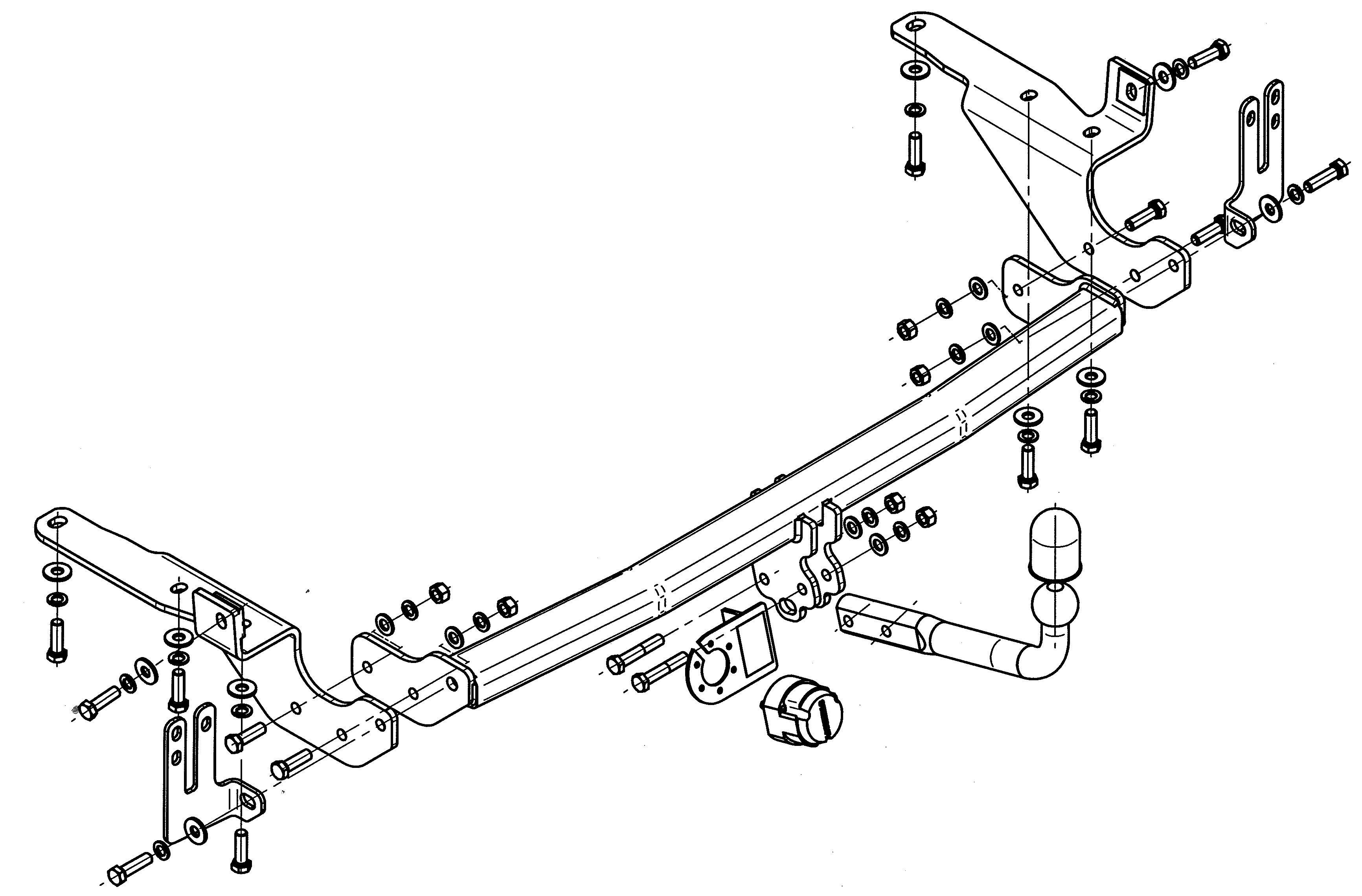 Vetokoukku STEINHOF STT-190 Toyota RAV 4 '05-