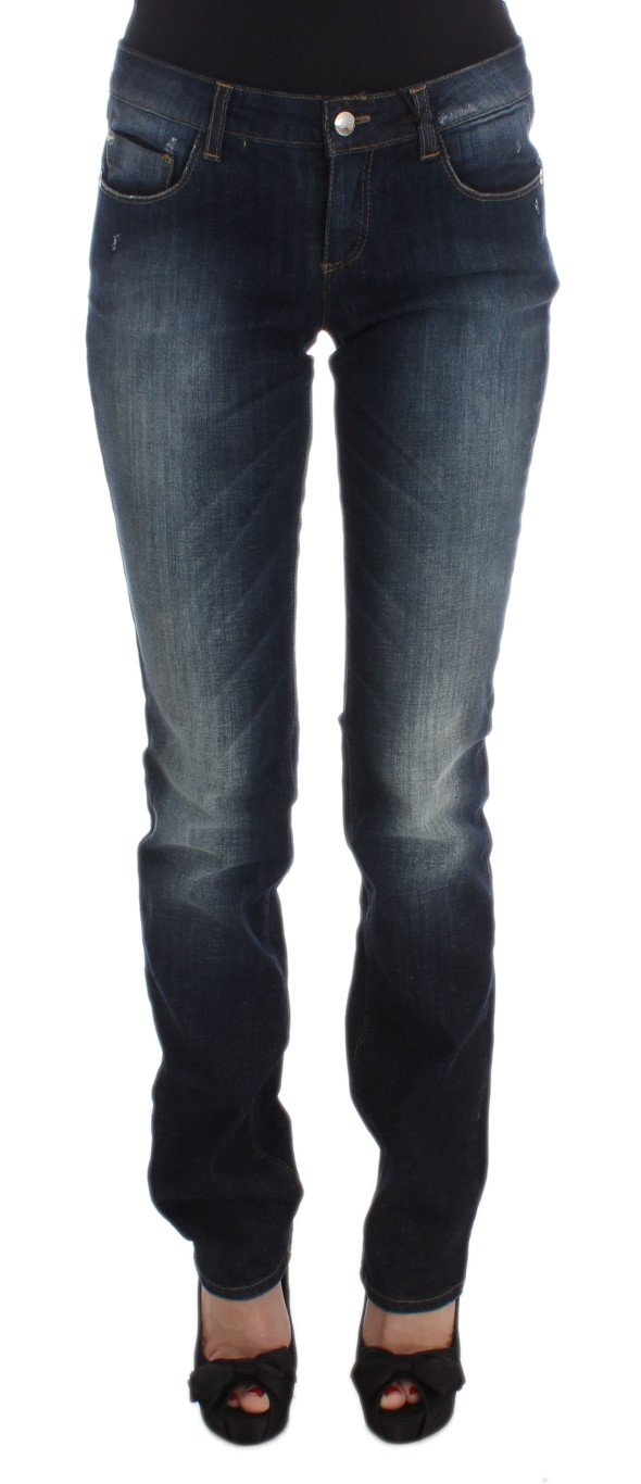 Costume National Women's Cotton Slim Fit Bootcut Jeans Blue SIG30198 - W26