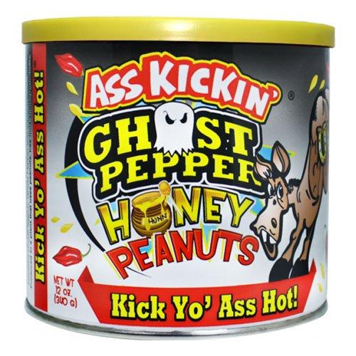 Ass Kickin Ghost Pepper Honungsjordnötter - 340 gram