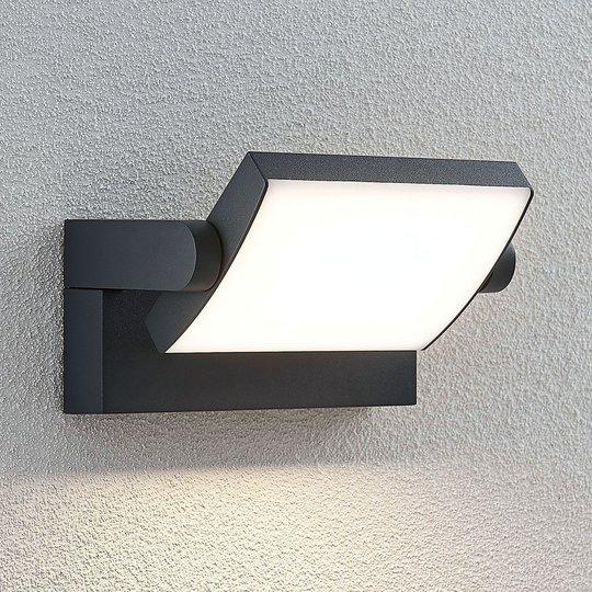 Utendørs LED-vegglampe Sherin, dreibar