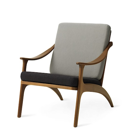 Lean Back Lounge Chair Light sage/Mocca Teak