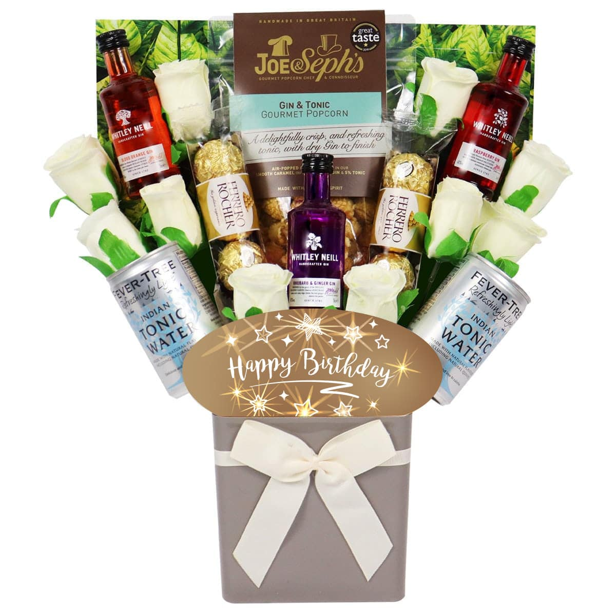 The Happy Birthday Whitley Neill Gin & Tonic Bouquet
