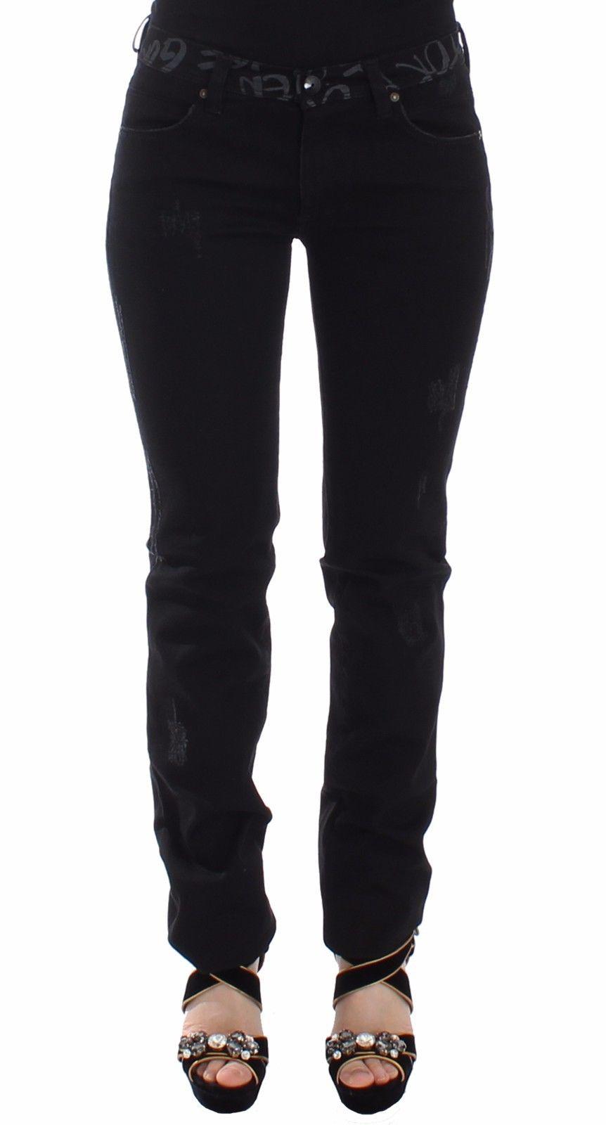 Ermanno Scervino Women's Slim Fit Jeans Black SIG12690 - IT40