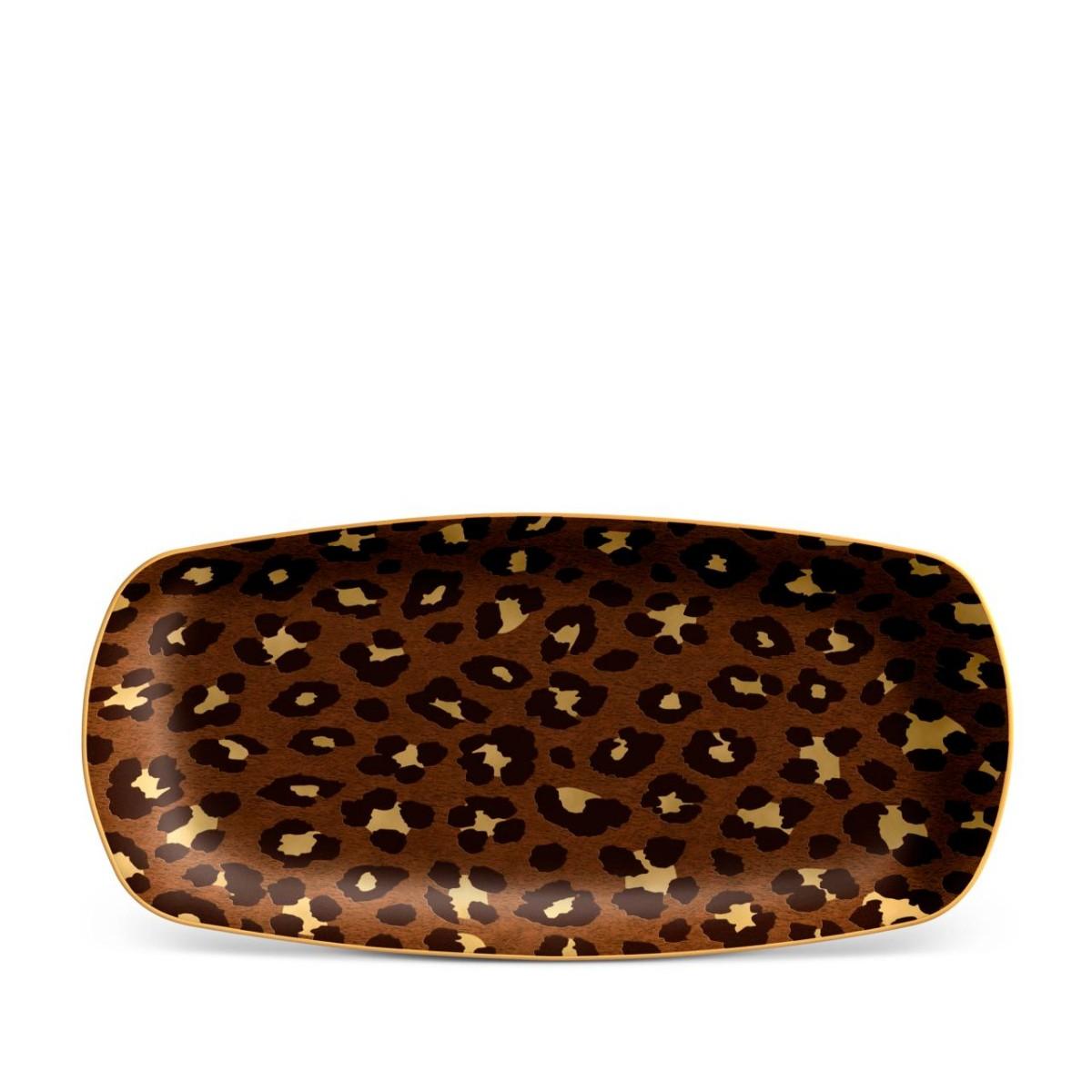 L'Objet I Leopard Rectangular Tray - Medium