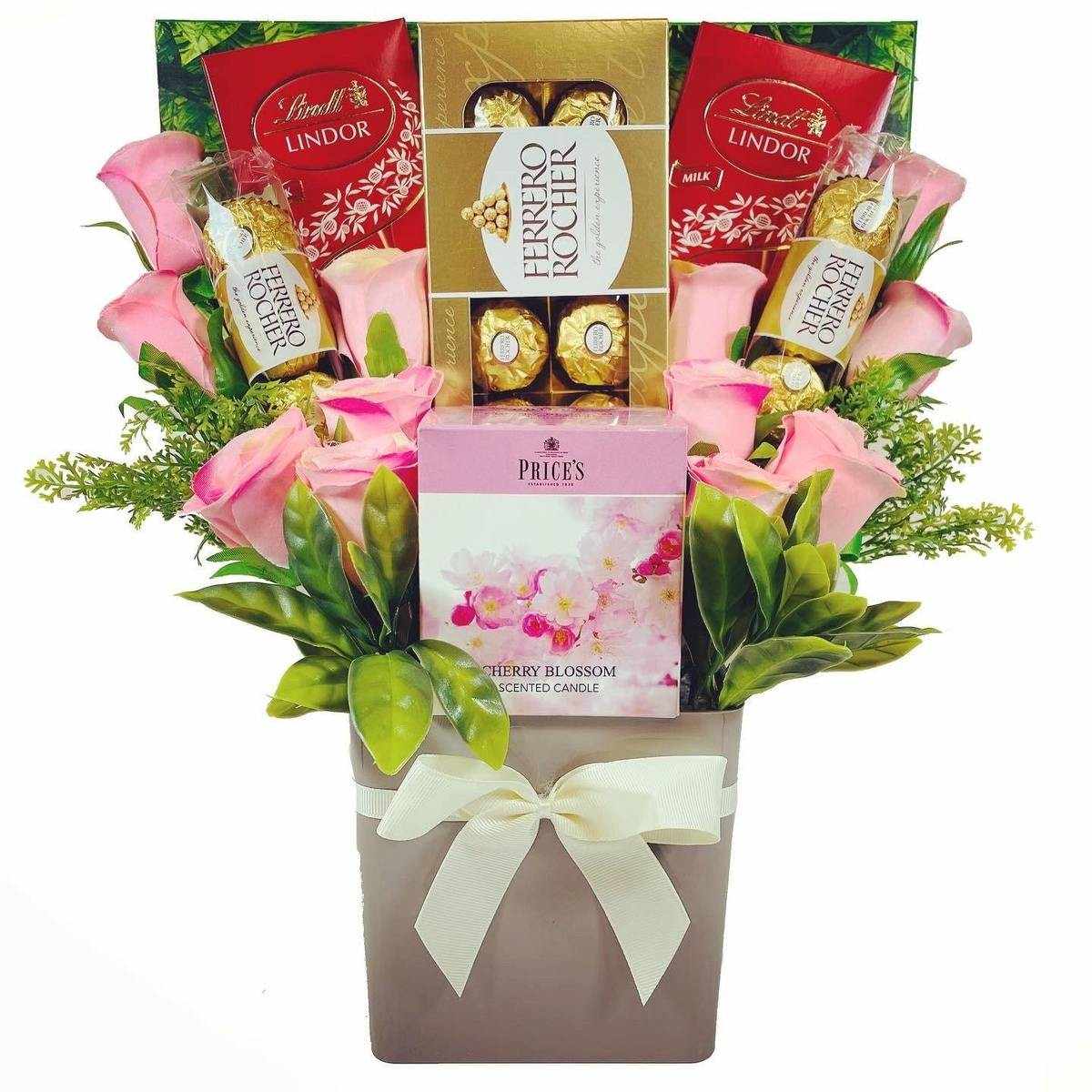 The Price's Boxed Candle Bouquet - Pink
