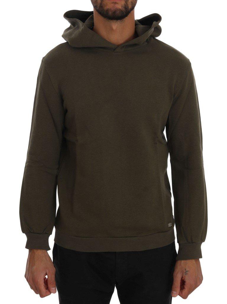 Daniele Alessandrini Men's Pullover Hodded Cotton Sweater Green TSH1342 - L