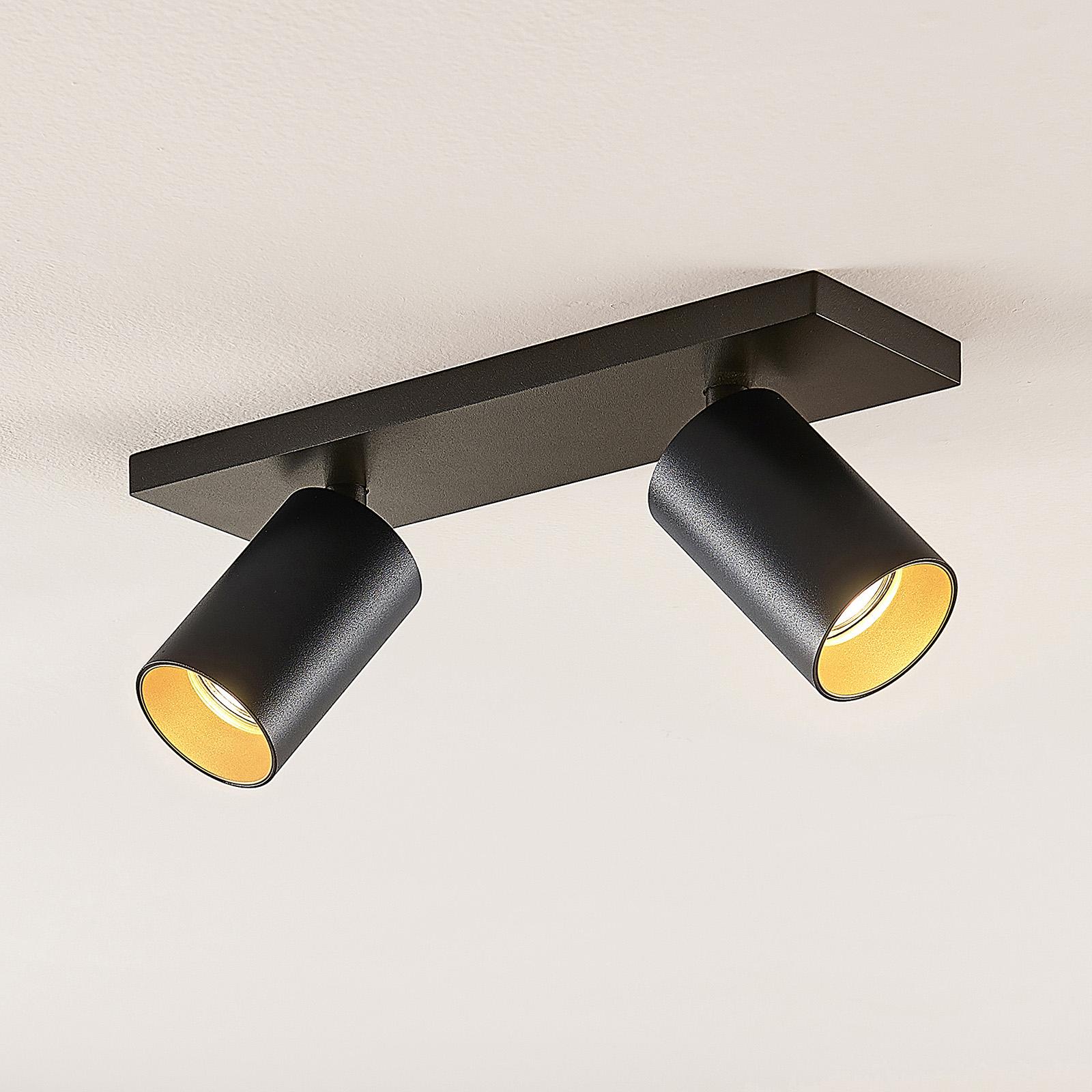 Kohdevalo Brinja GU10 musta 2 lamppua