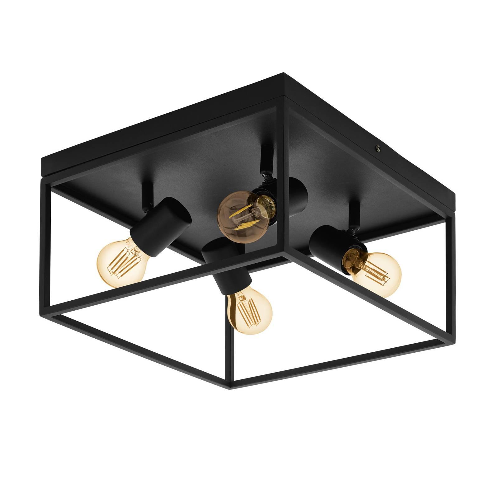 Kattovalaisin Silentina, 4-lamppuinen, 36 x 36 cm