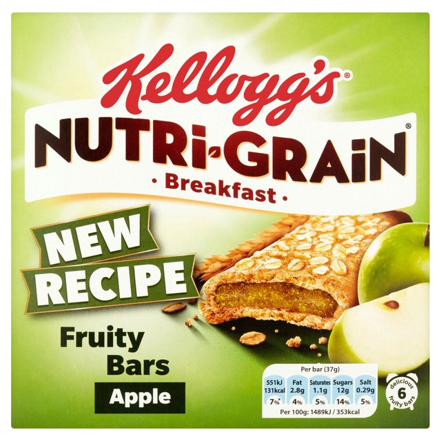 Kelloggs Nutri-Grain Apple Cereal Bars 222g
