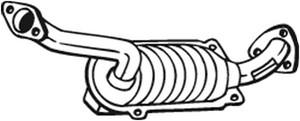 Katalysaattori, Edessä, HONDA CIVIC Hatchback VIII, 18160RSHE00
